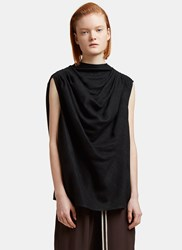 Rick Owens Claudette Oversized Draped Top Black