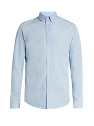 Maison Martin Margiela Button Cuff Cotton Poplin Shirt Blue