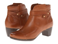 Softwalk Ivanhoe Cognac Veg Tumbled Leather Women's Boots Brown