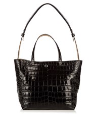Elizabeth And James Eloise Crocodile Effect Leather Tote Black
