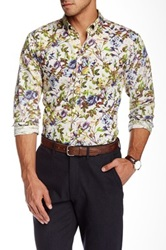 Lindbergh Flower Print Long Sleeve Shirt