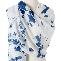 Omsutra Organic Tie And Dye Scarves Blue