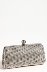 Whiting And Davis 'Crystal' Mesh Clutch Pewter