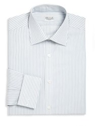 Charvet Regular Fit Striped Dress Shirt White Multi
