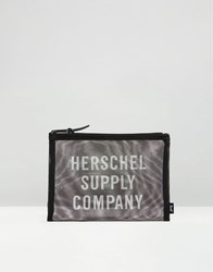 Herschel Supply Co Network Large Mesh Pouch Black White Multi