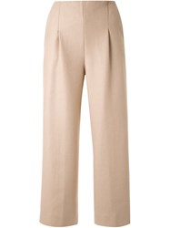 Chalayan Cropped Trousers Brown