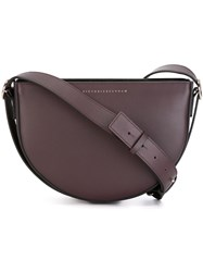 Victoria Beckham 'Baby Half Moon' Crossbody Bag Pink And Purple