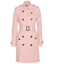 Burberry Kensington Lace Trench Coat Pink