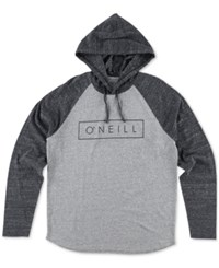 O'neill Men's Running Graphic Print Logo Hoodie Grey
