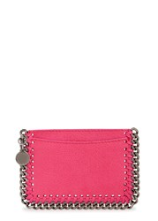 Stella Mccartney Falabella Hot Pink Faux Suede Card Holder Bright Pink