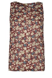 Alice And You Printed Shell Top Burgundy