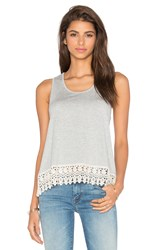 Jack By Bb Dakota Rosetta Tank Gray