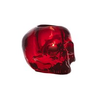 Kosta Boda Still Life Skull Votive Red