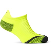 Nike Elite Cushion Dri Fit No Show Socks Yellow