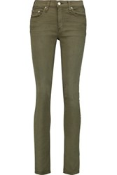 Rag And Bone Mid Rise Skinny Jeans Army Green