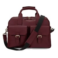 Aspinal Of London Men's Harrison Overnight Business Bag Burgundy