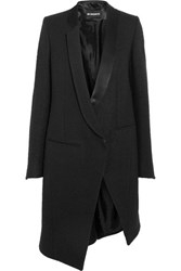 Ann Demeulemeester Asymmetric Wool Blend Boucle Jacket Black
