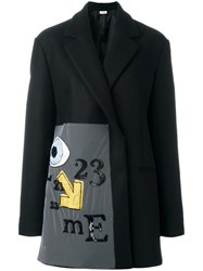 Au Jour Le Jour Embroidered Coat Black