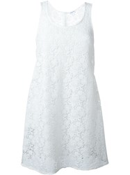 P.A.R.O.S.H. Crochet Dress White