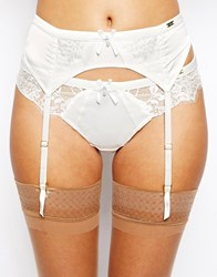 Ultimo Bridal Satin And Lace Suspender Cream