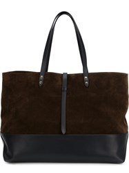Tomas Maier Large Shopping Tote Brown