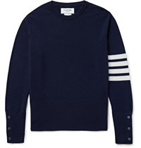 Thom Browne Striped Cashmere Sweater Blue