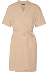 Cosabella Dolce Stretch Cotton Jersey Robe Orange