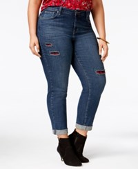 Styleandco. Style Co. Plus Size Patchwork Path Wash Boyfriend Jeans Only At Macy's