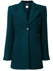Chanel Vintage Single Button Blazer Green