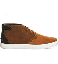 Lacoste Clavel Suede Chukka Boots Tan