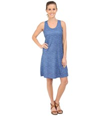 Columbia Saturday Trail Ii Knit Dress Stormy Blue Print Women's Dress