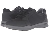 Softwalk Vital Black Ballistic Nylon Rubberized Women's Lace Up Casual Shoes