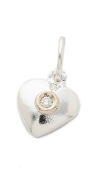 Helen Ficalora Heart With Diamond Charm Silver