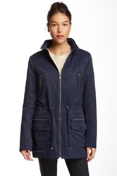 Tommy Hilfiger Drawstring Waist Coat Blue