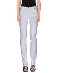 Blugirl Blumarine Denim Denim Trousers Women White
