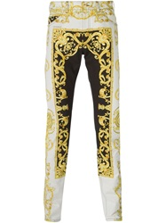 Versace Baroque Print Trousers White