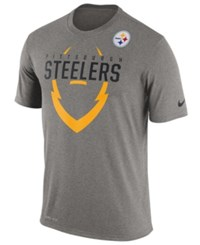 Nike Men's Pittsburgh Steelers Icon T Shirt Heather Gray