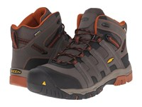 Keen Utility Omaha Mid Waterproof Black Olive Gingerbread Men's Work Lace Up Boots Brown