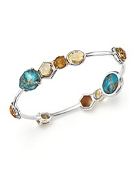 Ippolita Sterling Silver Rock Candy Mixed Stone Bangle In Safari 100 Bloomingdale's Exclusive Multi Silver