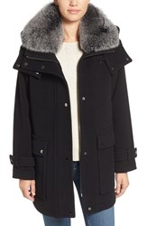 Trina Turk Women's 'Peyton' Genuine Fox Fur Trim Wool Blend Duffle Coat
