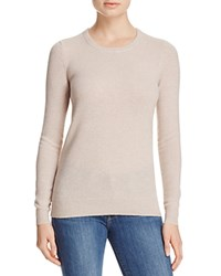 Bloomingdale's C By Crewneck Cashmere Sweater Heather Oatmeal