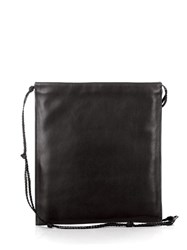 The Row Medicine Pouch Leather Cross Body Bag Black