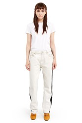 Bless Front Pleated Jeans White Black
