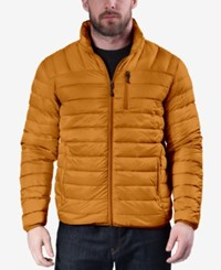 Hawke And Co. Outfitter Men's Big Tall Quilted Packable Down Jacket Burnt Orange