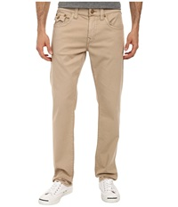 True Religion Geno W Flap Stretch Twill In Tan Tan Men's Casual Pants