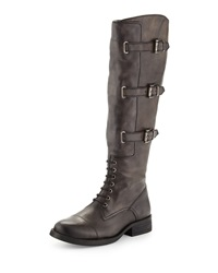 Vince Camuto Fenton Bucked Leather Boots Davys Gray