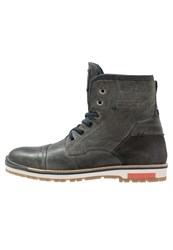 S.Oliver Laceup Boots Antracite Dark Grey