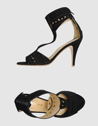 Peter Flowers High Heeled Sandals Black