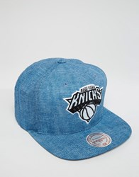Mitchell And Ness Snapback Cap Hydro Ny Knicks Blue