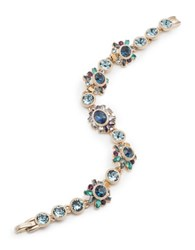 Marchesa Flex Bezel Set Glass Stone Bracelet Multi